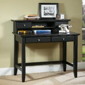 Bedford Student Desk and Hutch Set with 2 Drawers on Desk
