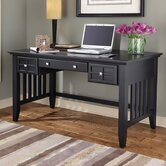 Arts and Crafts Executive Writing Desk 2 Storage Drawers