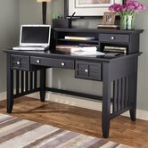 Arts and Crafts Executive Writing Desk and Hutch 2 Storage Drawers
