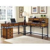 "AR1755.4400971AModern Craftsman Corner ""L"" Desk and Mobile File"
