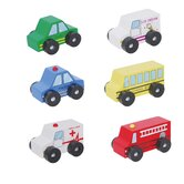 6 Piece Wooden Car Set