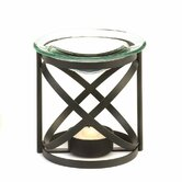 Axis Metal and Glass Tealight Oil Warmer
