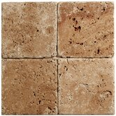 Noce Travertine Mosaic Tumbled Tile in Brown