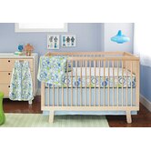 Moving Gears Bumper Free 4 Pieces Crib Bedding Set