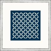 Navy Geometrics I Framed Graphic Art