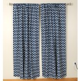 Circles and Squares Rod Pocket Curtain Pair