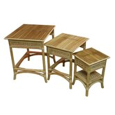 Spice Islands Wicker End Tables