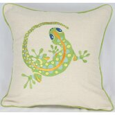 Archipelago Gecko Cotton Pillow