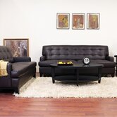 Baxton Studio Adair Modern Leather Sofa Set