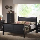 Baxton Studio Harrell Sleigh Bed