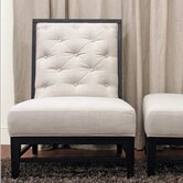 Baxton Studio Bristol Tufted Modern Fabric Slipper Chair