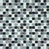 Glacier Mountain 11-3/4&quot; x 11-3/4&quot; Tile with Small Squares in Arctic Nights