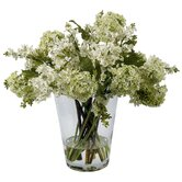 Lilacs in Glass Vase