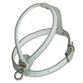 Fashion Soft Leather Dog Harness in White