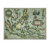 """Map of the East Indies, 1635"" Graphic Art on Canvas"