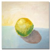 'Yellow Lemon Still Life' by Michelle Calkins Painting Print on Canvas