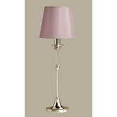 Harriet Table Lamp with Charlotte Shade in Shiny Silver