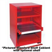 "Table High Double-Wide Shelf Cabinet: 60"" W x 28 1/4"" D x 30 1/8"" H"