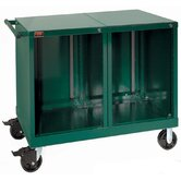 "Bench High Extra-Wide Mobile Tool Cabinet with 10 Empty Drawers: 45"" W x 28 1/4"" D x 40""  H"