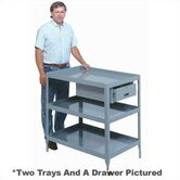 Stationary Tool Stand - 2 Trays and Drawer: 34 1/4&quot; H x 28&quot; W x 36&quot; W