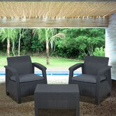 Atlantic Java 3 Piece Lounge Seating Group with Cushions