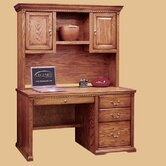Scottsdale Oak Office Computer Desk with Optional Hutch