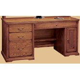 Scottsdale Oak Computer Desk and Optional Hutch