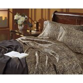 Charmeuse Leopard Print Sheet Set