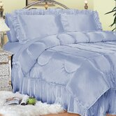 Charmeuse Satin Comforter Set in French Blue