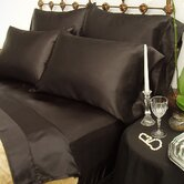 230 Thread Count Charmeuse II Satin Sheet Set in Black