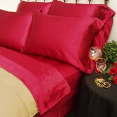 230 Thread Count Charmeuse II Satin Sheet Set in Red