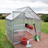 Greenhouse with Base Frame and Staging