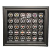 NHL Thirty Puck Cabinet Style Display Case in Black