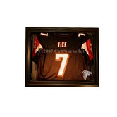 Removable Face Jersey Display in Brown with Removable Face