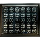 Thirty Puck &quot;Case-Up&quot; Display in Brown