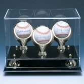 Three Baseball Gold Ring and Risers