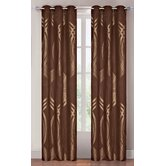 Metallic Brown Grommet Curtain Panel (Set of 2)