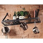 Gourmet Bookshelf Wall Mounted Pot Rack