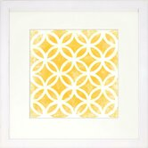 Modern Living Modern Symmetry VII Framed Graphic Art in Gold