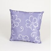 LuLu White Flower Pillow on Lavender Background