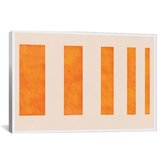 Modern Art Orange Levies Modern Painting Print on Canvas