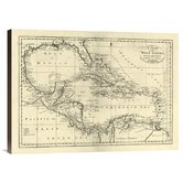'Chart of the West Indies, 1795' by Mathew Carey Graphic Art on Canvas
