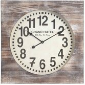 Augusta Clock in Distressed White Wash