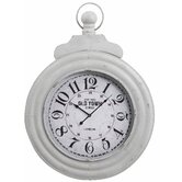Dillon Clock Distressed Cream