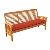 Patio Garden Bench with Cushion