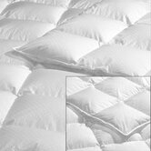 Down Satin Hutterite King Duvet in White