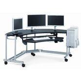 Anthro Ergonomic Desks Fit Console Wrap Around Studio Computer Workstation