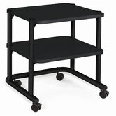 24&quot; Office Equipment Utility Cart in Black
