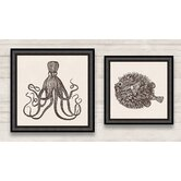 Nautical Framed Graphic Art