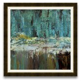 The Fabric of Nature Deep Waters I Framed Graphic Art